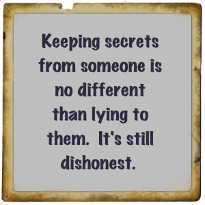 Keeping Secrets Quotes And Sayings