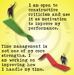 Positive and negative self-evaluation performance phrases