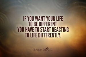 React differently