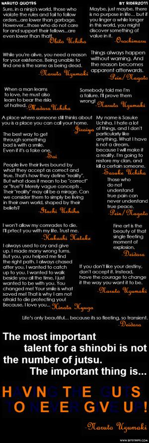 Naruto Quotes ...