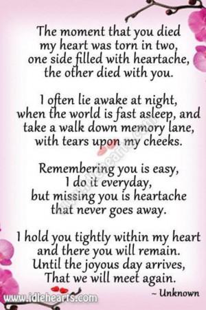 Quotes › MOM DAD- Sending Big Hugs ,Kisses+All Our Love To Heaven,We ...