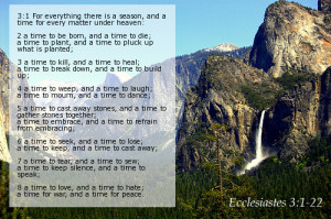 For everything there is a season…