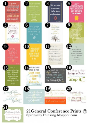 and Spiritually Speaking: General Conference Printables - April 2012 ...