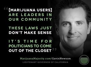 Lieutenant Governor Gavin Newsom supports legalizing marijuana ...