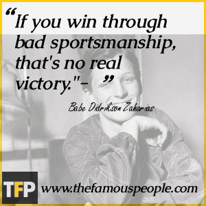 If you win through bad sportsmanship, that