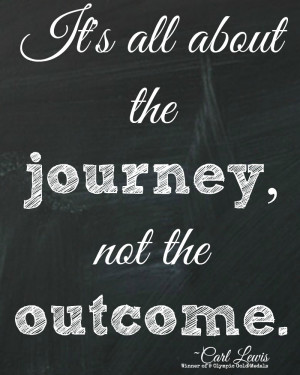 It's all about the journey Olympic quote printable by The Happy Housie