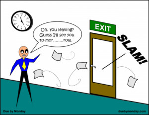 Strange Coworker Behaviors #3: End-of-Day Disappearing Act | Due ...