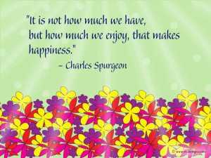 Happiness Quote on a wallpaper
