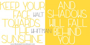Inspirational quote, Walt Whitman, Illustrated Moodboard