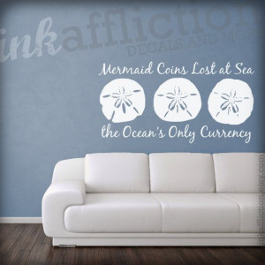 Sand Dollar Quote Wall Decal