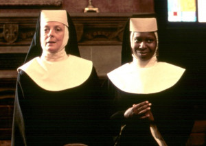 Maggie Smith and Whoopi Goldberg in 'Sister Act'