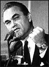 George Wallace campaigning in the '60s. (File Photo-The Post)