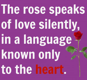 Rose day heart quote