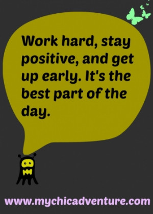 Stay Positive at Work Quotes