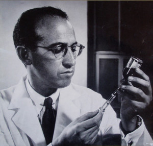 jonas salk 1954 polio vaccine trials the salk polio vaccine is tested ...