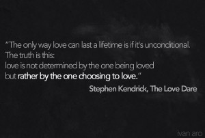 ... in the difficult times is a choice. It is the Agape love of God