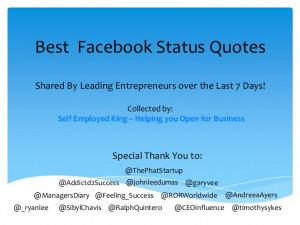 Best Facebook Status Quotes
