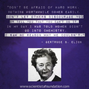 gertrude B. Elion Quote Scientista Women in STEM