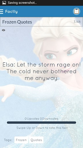 Frozen Quotes Screenshot 4