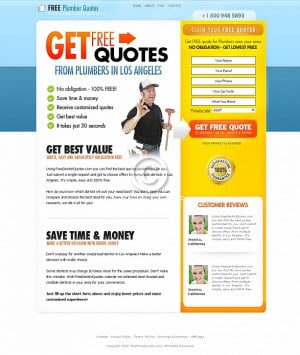 Free Quote Squeeze Page