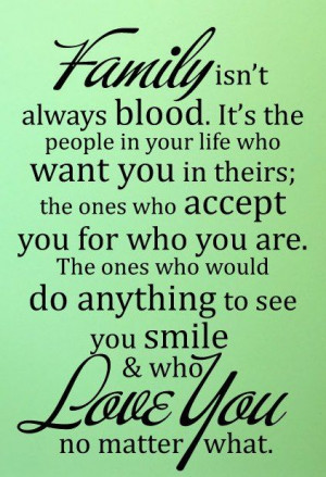 family isnt always blood quote picture quotes pic image jpg