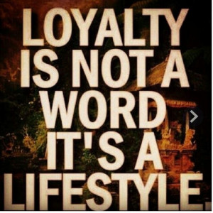 Dislike unloyal people.....