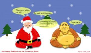 ... Buddha,Front Pocket Media,Funny,Jokes,Santa,Santa Claus,Christmas