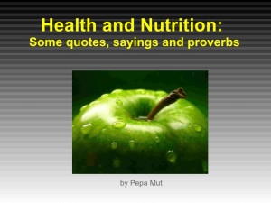 Health and nutrition quotes