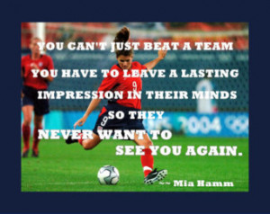 Soccer Quotes And Sayings Mia Hamm Soccer poster mia hamm photo