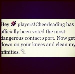 Football vs cheerleading