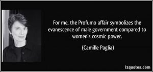 For me, the Profumo affair symbolizes the evanescence of male ...