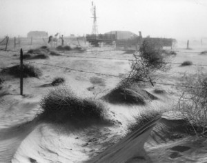 Effects of the Dust Bowl in Dallam County, Texas in 1938 (Getty Images ...