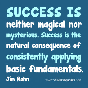 Success quotes, Jim Rohn Quotes, Success is neither magical nor ...