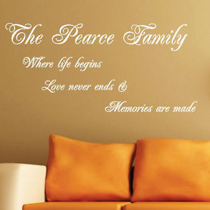 Personalised Family Name...