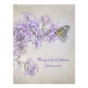 Butterfly on Lilacs Vow Renewal Announcement