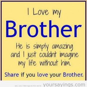 funny brother quotes pinterest, i love my brother