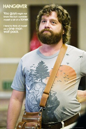 One Man Wolf Pack - Zach Galifianakis is Alan in The Hangover