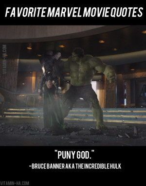 Favorite Marvel Movie Superhero Quotes