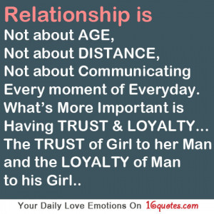 Without trust and loyalty there is no relationship ! You two will not ...