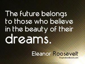 Believe Quotes – Eleanor Roosevelt