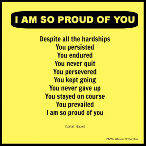 Am So Proud Of You