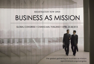 Historic Global Congress on Business as Mission in Thailand in April