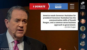 Michelle's quote reads 'Mike Huckabee is a male of faith who is ...