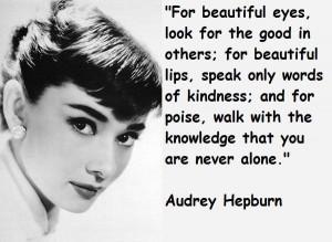 Audrey hepburn famous quotes 6