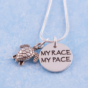 Home / Accessories & Jewelry / My Race My Pace Charm Necklace