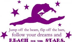 Gymnastics Quotes - Amazon.com - Gymnastics Quote - Girl's Vinyl ...