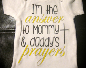 ... prayers onesie cute novelty boy or girl new baby adoption adopted