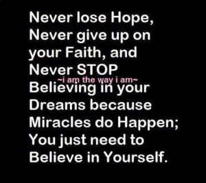 losing hope quotes quotes about lose never lose hope in life lose hope ...