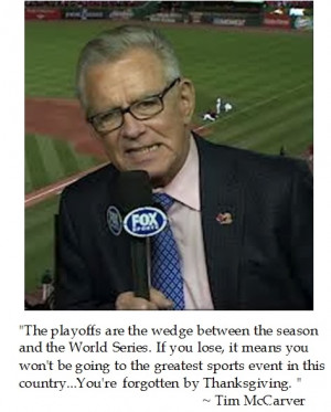 Tim McCarver on the Playoffs