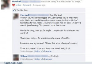 Facebook Fails Caught Cheating